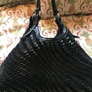 Cole Haan Genevieve Woven Leather Triangle Bag